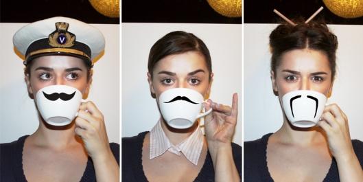 moustache cup schnurrbart tasse diy